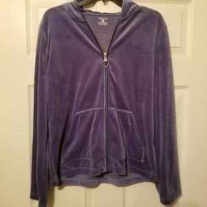 Jones New York Sport Velvet hoodie size large